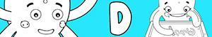 Omalovánky Jména pro Dívky na písmeno D