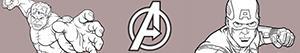 Omalovánky Avengers. Mstitelé