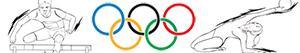 Omalovánky Olympijských sportů. Atletika. Gymnastika. Víceodvětvové sporty
